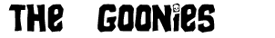 The Goonies Movie Font